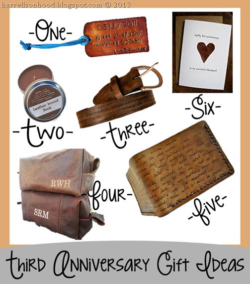 third anniversary leather gift