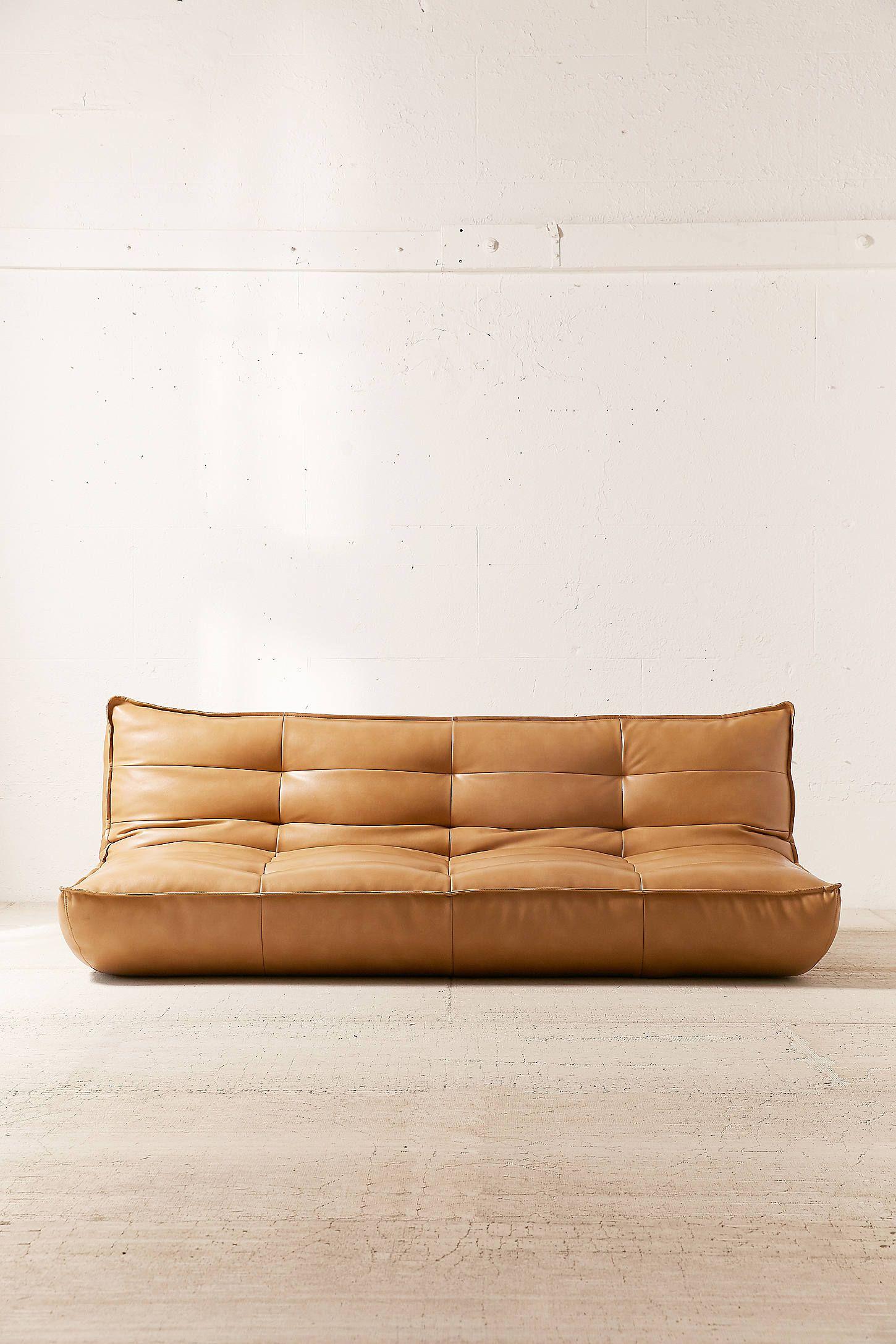 Greta Recycled Leather Xl Sleeper Sofa With Images Leather