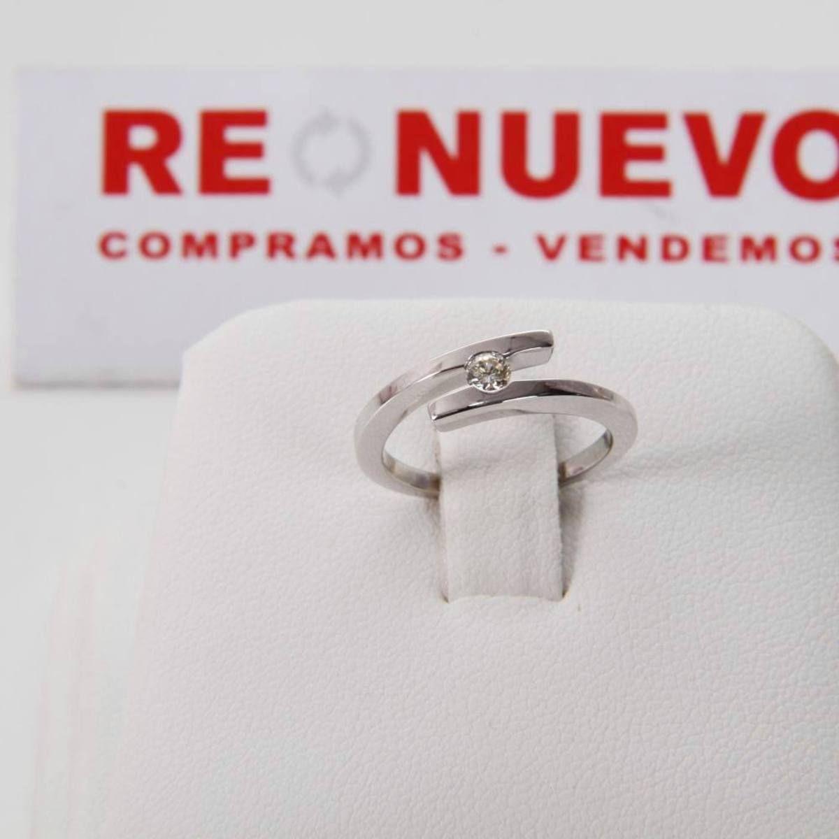 b4d350d76b50 Comprar Anillo de compromiso de oro blanco con diamante E294659B ...