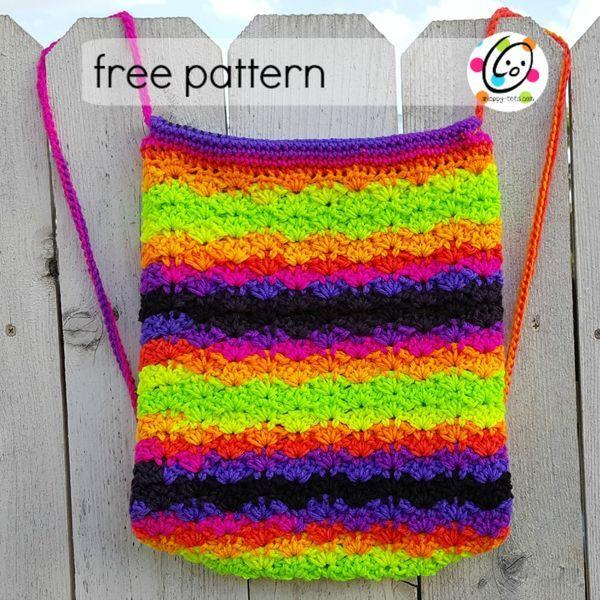 Free Pattern Bright Stripes Backpack My Boho Pinterest