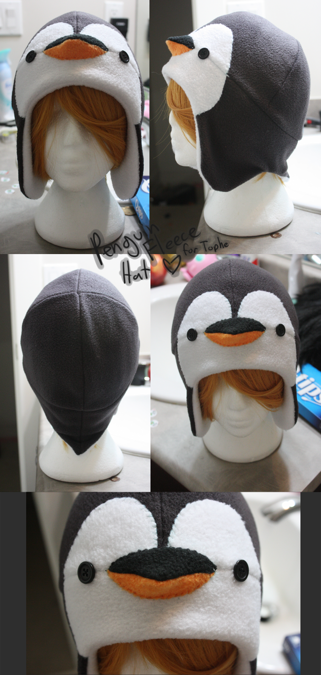 FleeceHat:Gift+ Penguin Hat for Tophe. | Pinguin Kostüm | Pinterest ...