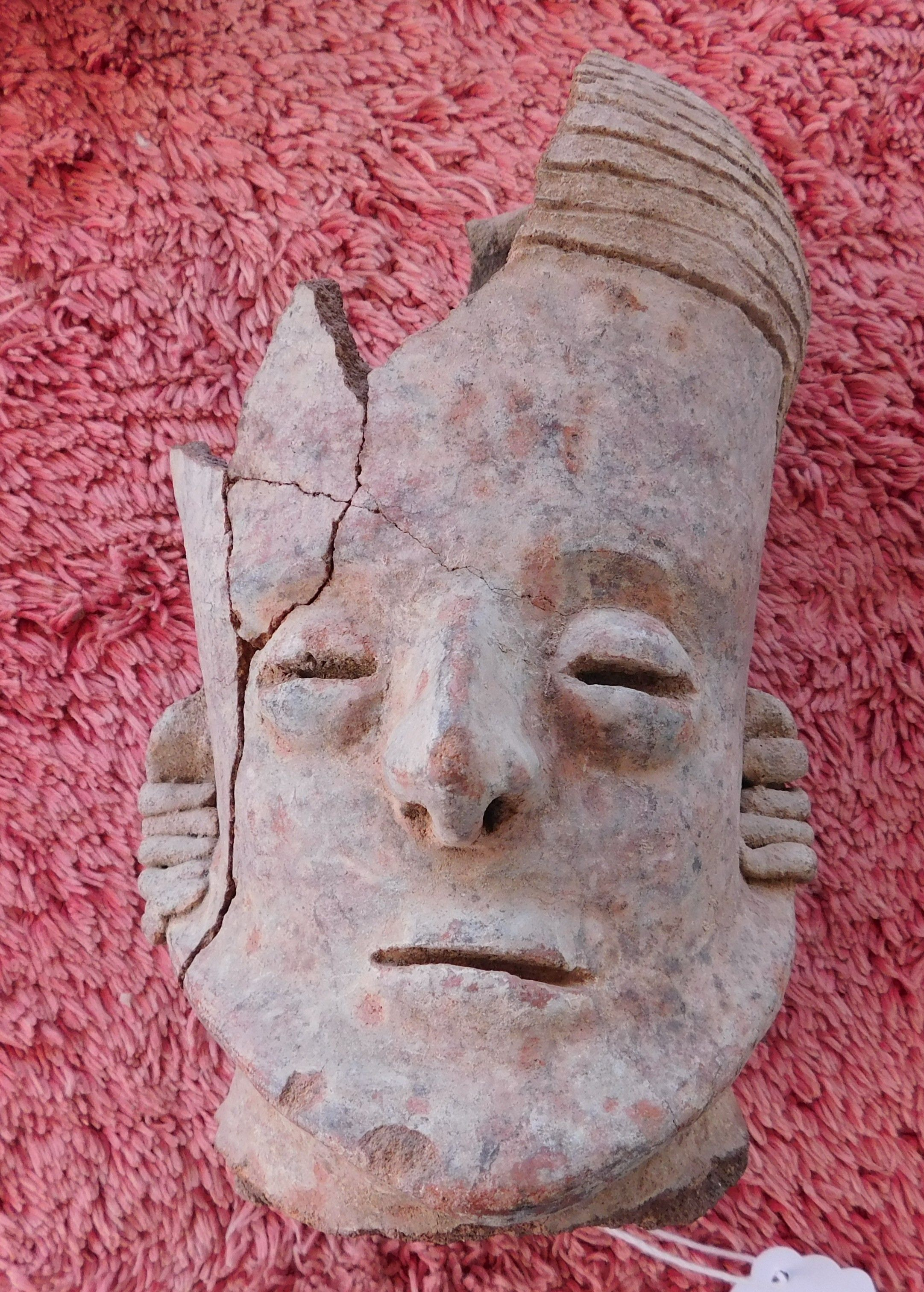 Pre Columbian Ceramic Head Pre Columbian Item Made Of Clay The