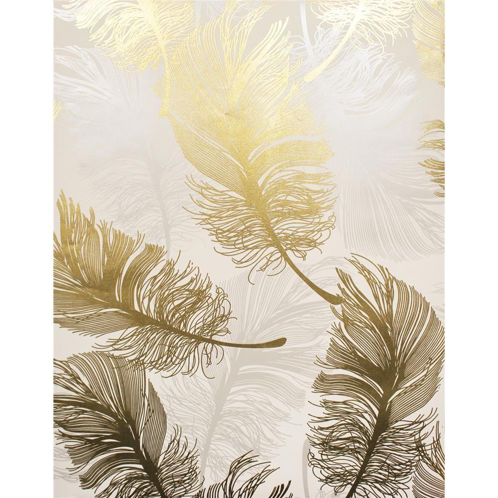 Brewster 2834M1392 Feather wallpaper, Animal print