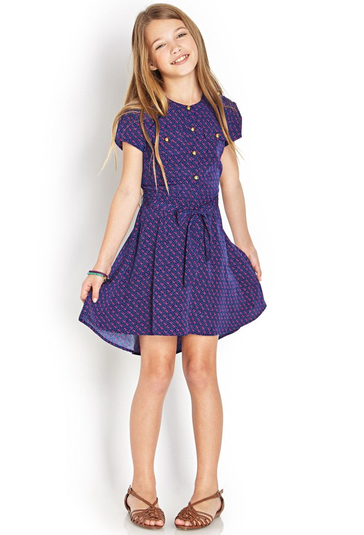 241c0e7622cc Dotted Floral Shirtdress (Kids)