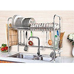 Over The Sink Dish Rack Perfect For Small Spaces Save Counter