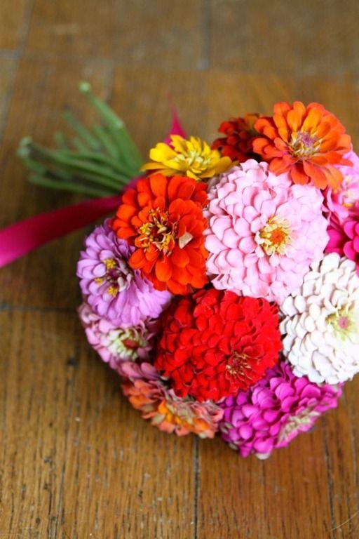 Summer Bouquets Zinnia Bouquetflower Bouquetsbridal