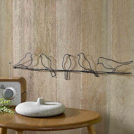 Graham brown metallic birds on a wire wall art