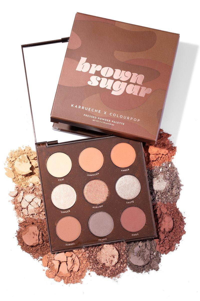 Brown Sugar Pressed Powder Shadow Palette Colourpop Brown Eyeshadow Palette Colourpop Brown Eyeshadow