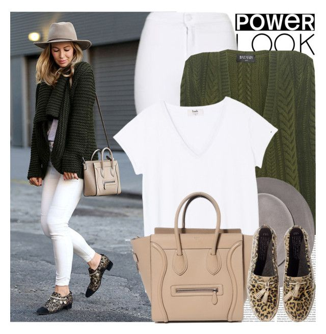 """""""2420. Blogger Style: Brookyn Blonde"""" by chocolatepumma ❤ liked on Polyvore featuring Oris, Topshop, Balmain and TOMS"""
