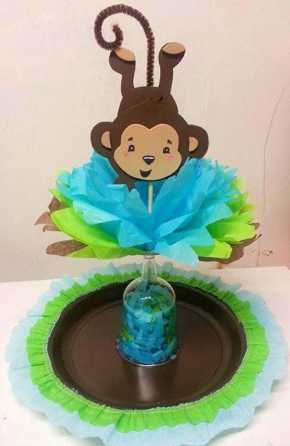 Centro de mesa para Baby Shower Center pieces Pinterest Mesas