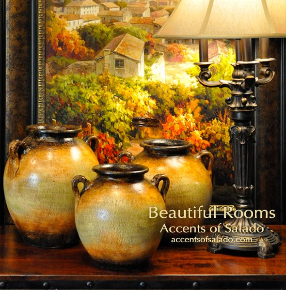 Tuscan Decor Alfresco Red Floor Vase Old World Decor Pinterest