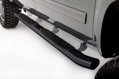 "4/""Oval Black Curved Nerf Bars Running Boards For 2009-2014 FORD F-150 Super Cab"