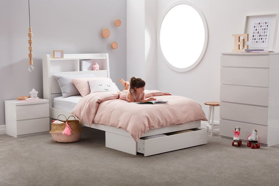 Kids Living Ellipse Bedroom Suite Bed Frame With Drawers White Bedroom Furniture Bedroom Furniture