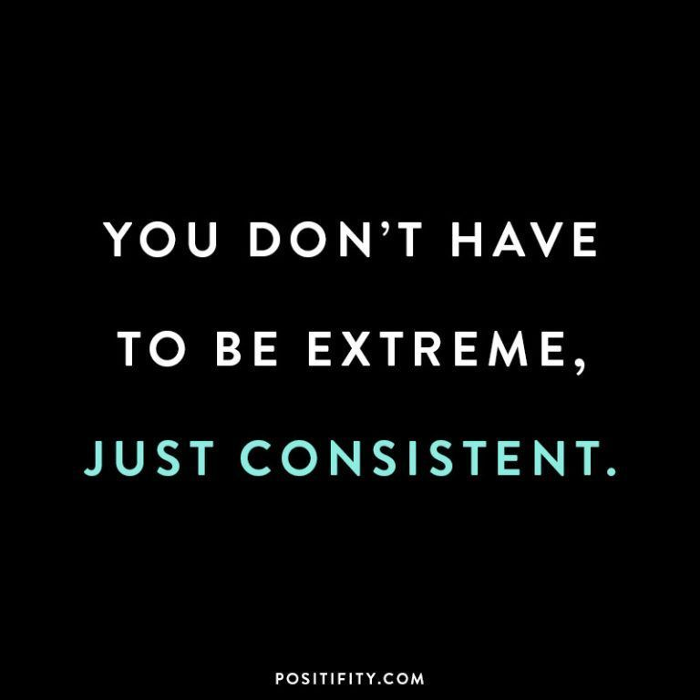 "#diet ""You don't have to be extreme, just consistent."" 