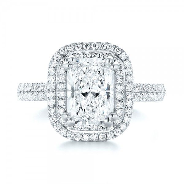 Custom Diamond Double Halo Engagement Ring   Joseph Jewelry   Bellevue   Seattle   Online   Design Your Own Ring