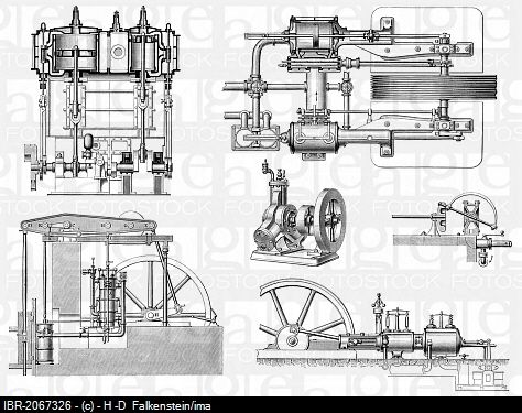 Engine Technical Drawing , technical drawing, various steam - copy blueprint engines bp3501ctc1