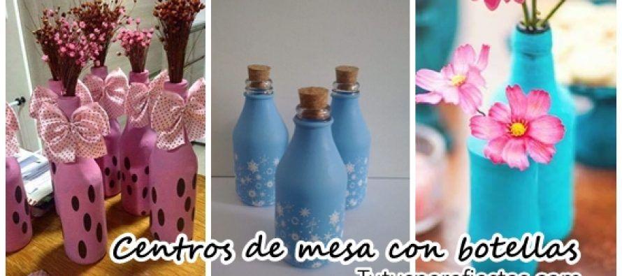 Centros De Mesa Infantiles Con Frascos Y Botellas De Vidrio Centros De Mesa Arte De Bricolaje Centro De Mesa Infantil Manualidades