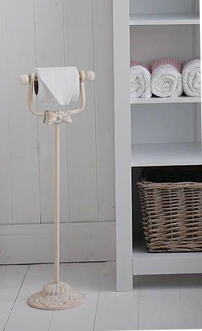 Toilet Roll Holder Stand From The White Lighthouse Shabby Chic