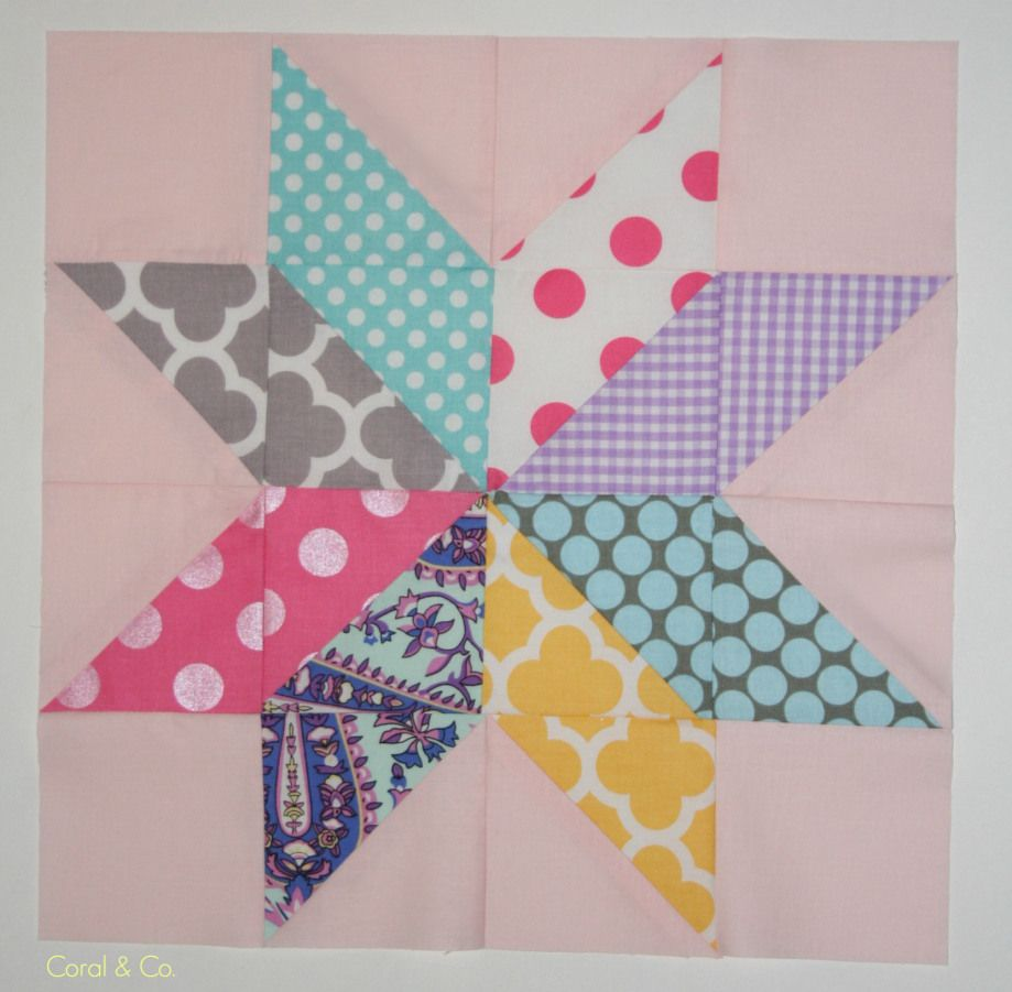 Star Flower Quilt Block Tutorial - Coral + Co.