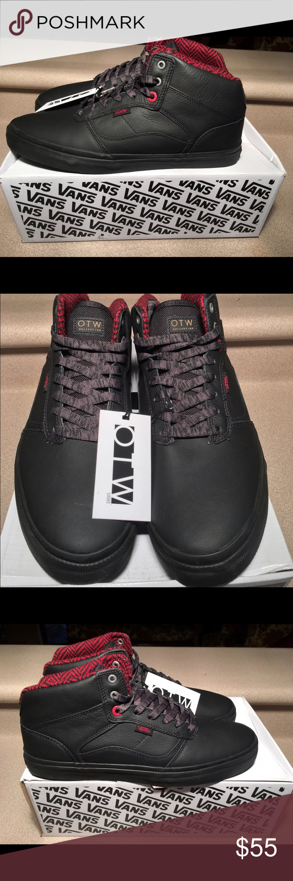 682770ff7cb9 ... recognized brands 274fe 0400c Vans Bedford Mens Ballistic Black Leather  Sz 11.5 Brand New Vans Bedford ...