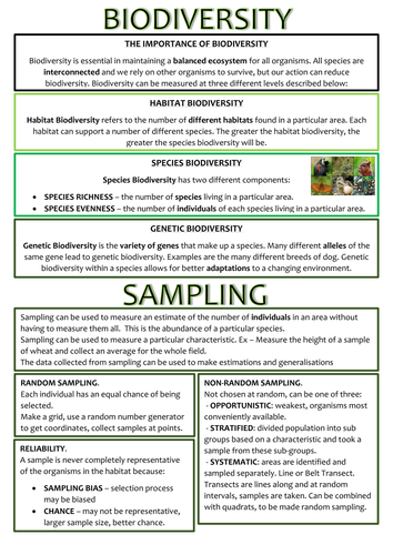 Biology as level ocr revision notes biodiversity concerns for 1 biodiversity and samplingcx urtaz Choice Image