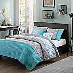 Product image for Intelligent Design Clara Coverlet Set in Blue