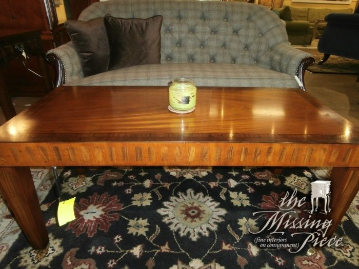 Burled Coffee Table Standing A Little Extra Tall. Measures 46x22x22. Missing  PieceCoffee ... Amazing Ideas