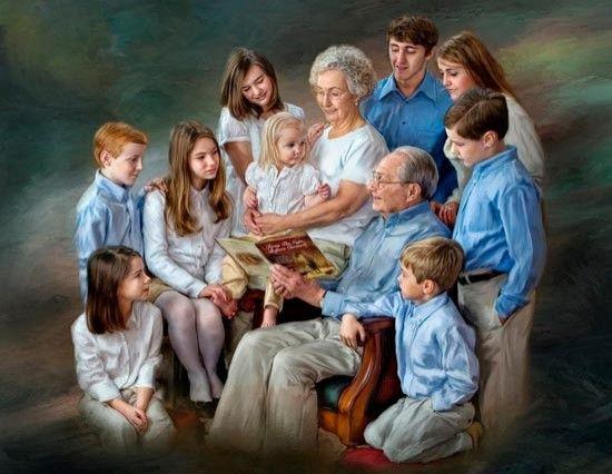 Картинки по запросу фото большая семья за столом | Позы на ...