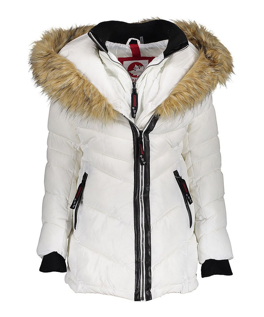 Look At This White Faux Fur Lined Hood Three Quarter Length Coat Plus Too On Zulily Today White Faux Fur Outerwear Women Quarter Length [ 1081 x 900 Pixel ]