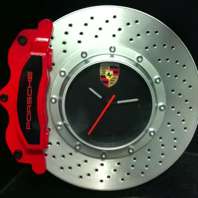 Porsche Brake Rotor Clock Great Gift For The Guys Garage Or The Office 99 95 Porsche Parts Porsche Diy Car