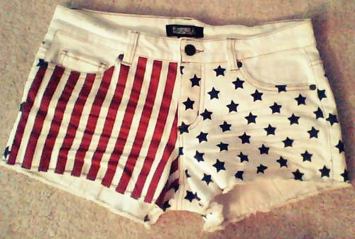 stars and stripes shorts :) fourth of july?