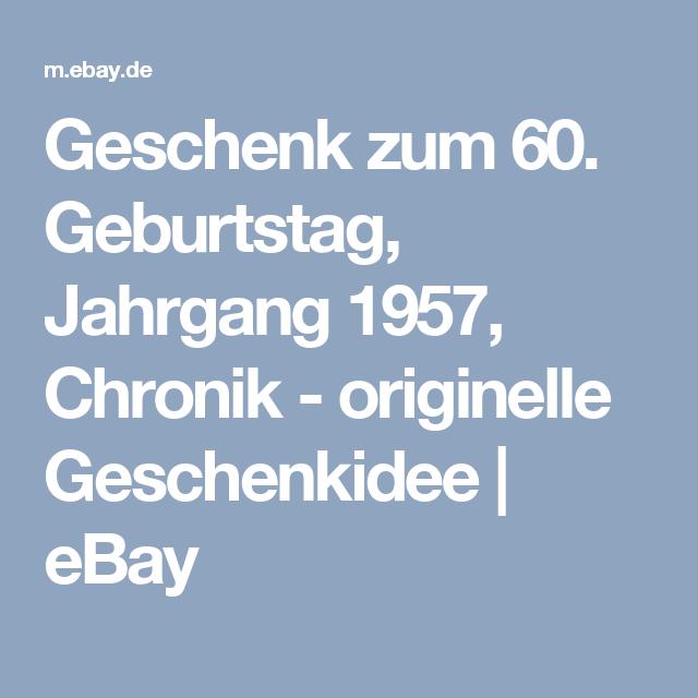 Geburtstag, Jahrgang 1957, Chronik   Originelle Geschenkidee