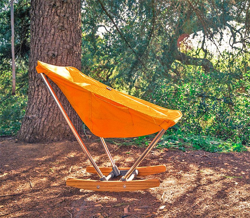 Evrgrn Campfire Fold Out Rocking Chair. Camping ...