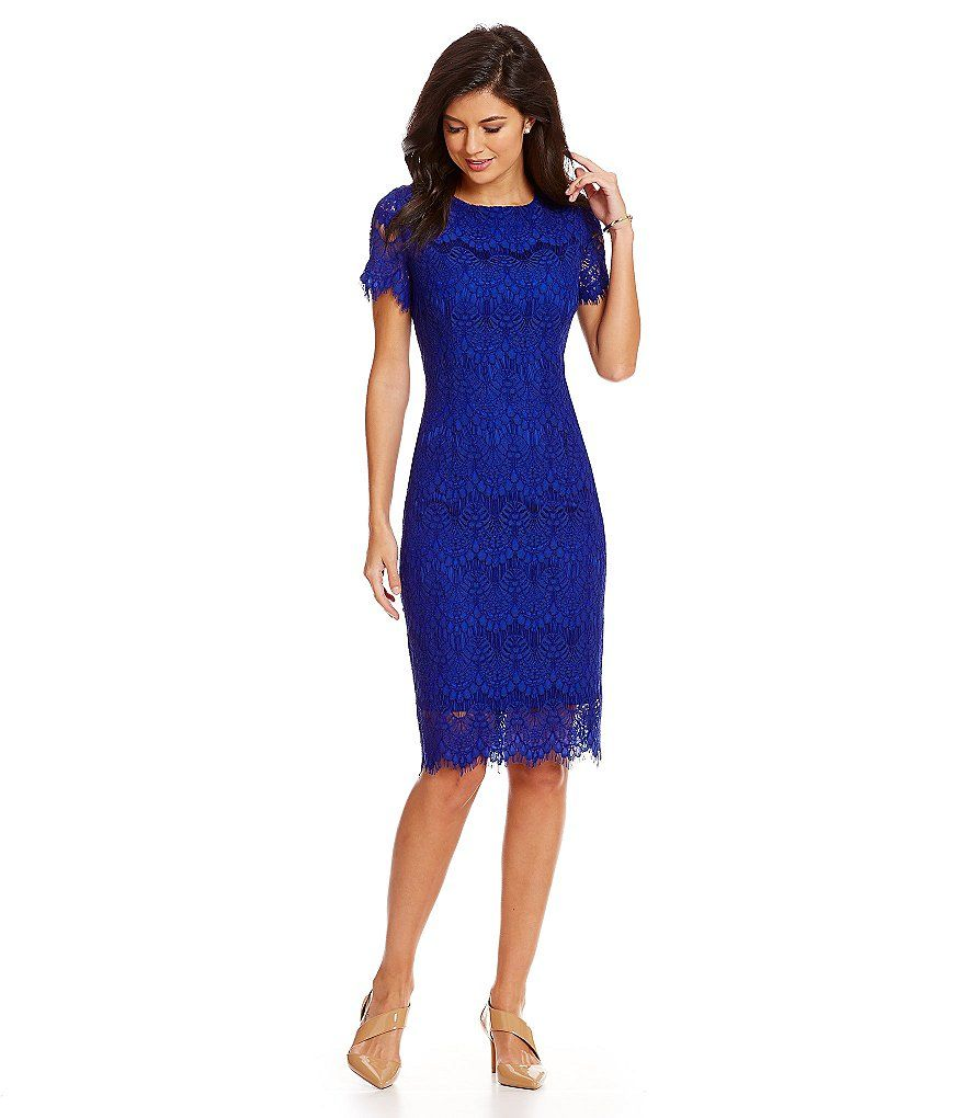 Preston & York Felicia Short Sleeve Lace Sheath Dress | Arte