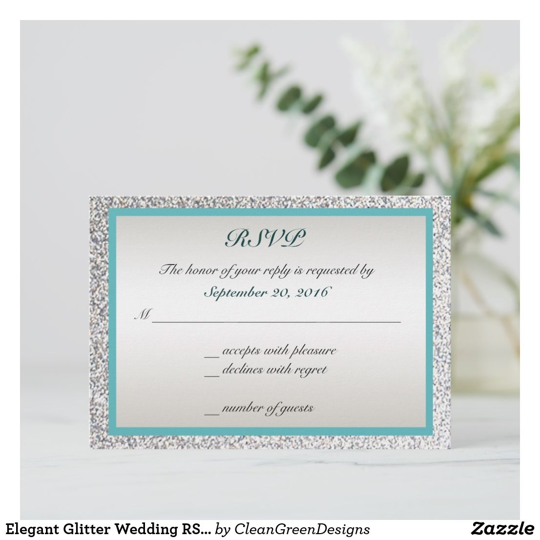 Elegant Glitter Wedding Rsvp: Pi Day Wedding Cards At Websimilar.org