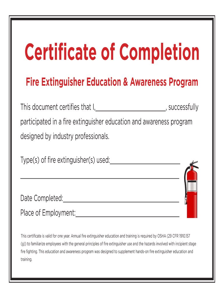 Fire Extinguisher Certificate Pdf Fill Online Printable Pertaining To Fire Extinguisher Certi In 2020 Certificate Templates Business Plan Template Business Template