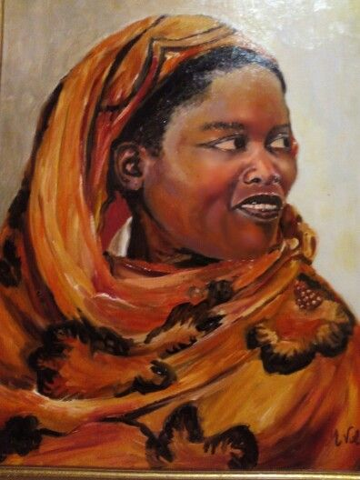 Mujer africana. Óleo