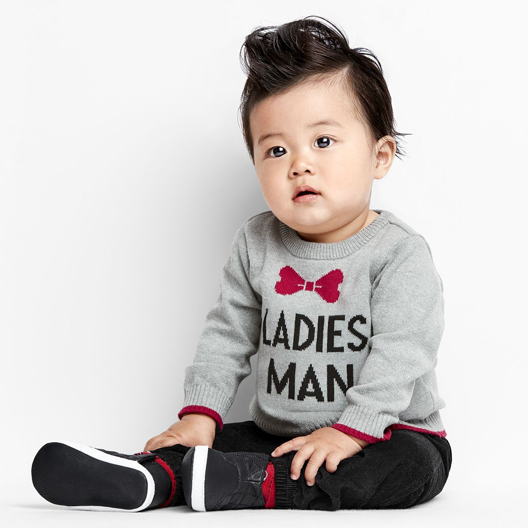 The Childrens Place Baby Boys Graphic Sweaters