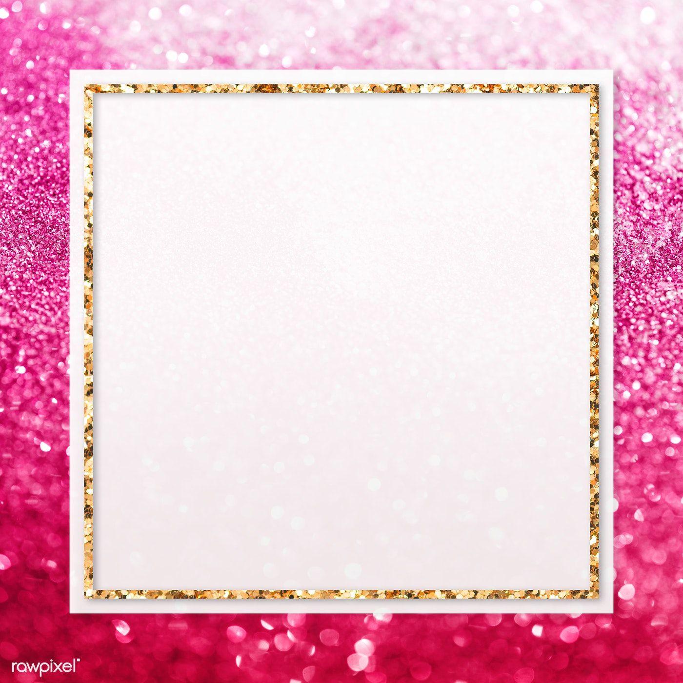 Golden Frame On Pink Sequin Transparent Png Premium Image By Rawpixel Com Manotang Pink Sparkle Background Pink Sequin Pink Sparkles