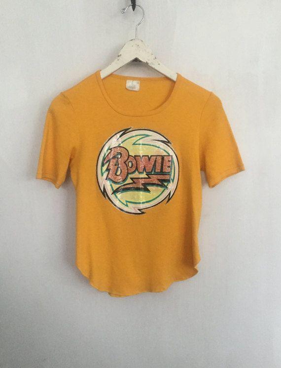 4644e69b90 David Bowie shirt 1974 vintage t shirt band t-shirts glam rock by  CottonFever