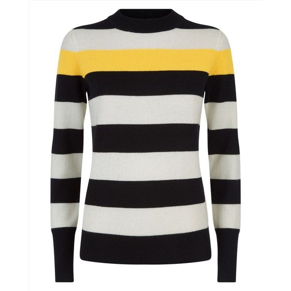Jaeger Jaeger Wool Cashmere Stripe Sweater 150 Liked On Polyvore Featuring Tops Sweaters Wool Sweat Woolen Sweaters Stripe Sweater Pure Cashmere Sweater