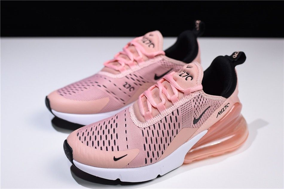 4bddf79607 Women's Nike Air Max 270 Coral Stardust/Black-Summit White AH6789 ...