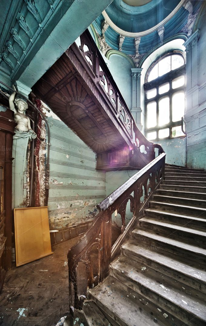 Check Out Ancient Wooden Stairs By Alexlevitsky On Creative Market