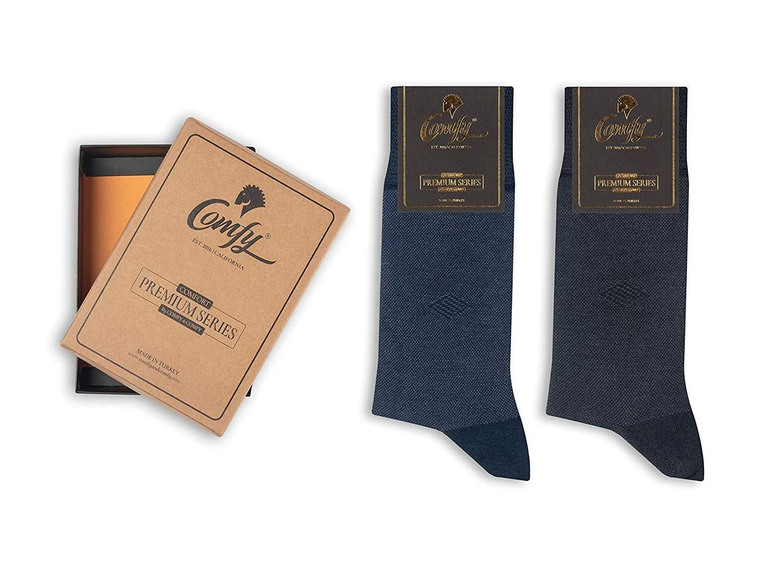 c9735ac11179f Buy 2 Save 20% Bamboo Men's Dress & Trouser Socks 2 and 3 Pack in Gift Box  Ultra Soft Like Wearing Cloud