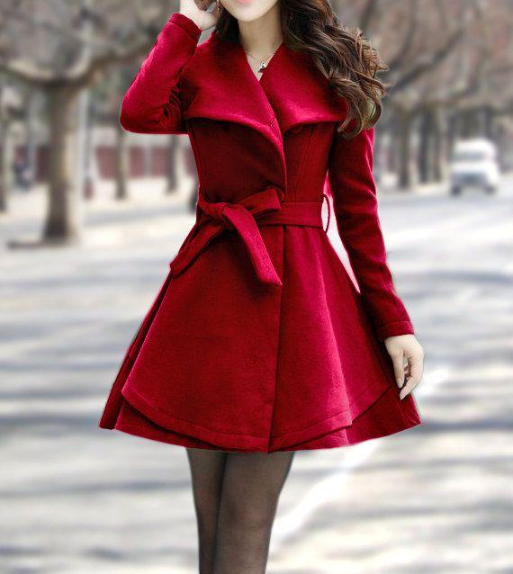 Women's+Winter+Coats+Wine+Red+Jackets+Wool+Capes+by+dresstore2000,+$169.00