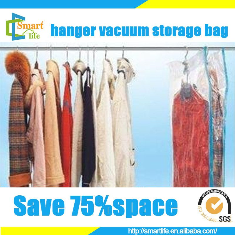 468787dd71a3 space saver plastic hanging vaccum bag for Down jacket coat Vacuum Storage  Bags