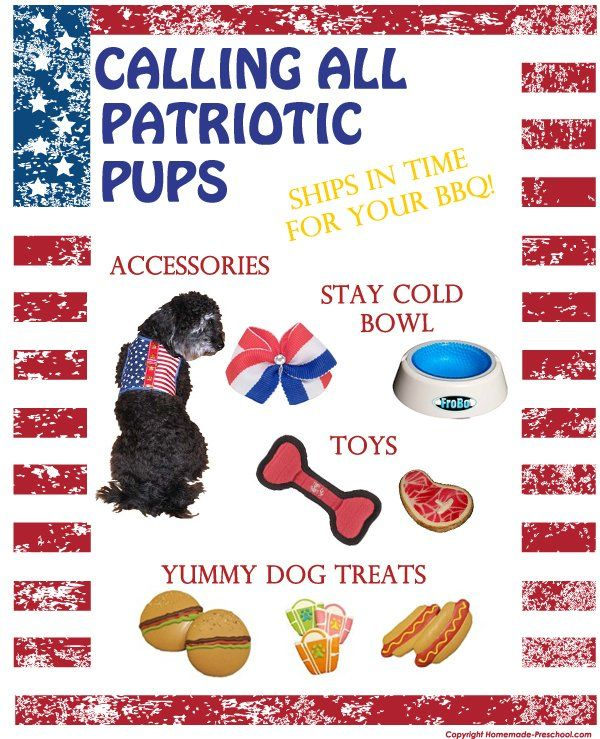 Everyone can wear the red, white, and blue for the nation's holidays, including your favorite pup. Check out these great items, and many more, at www.puppykisses.com.