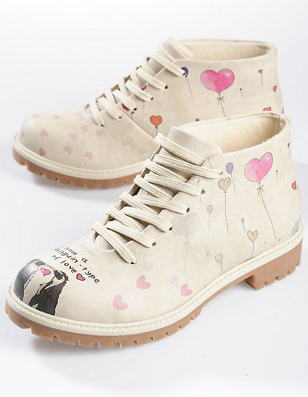 Dogo Shoes Stiefeletten Pinguin in Love, bunt | Schuhe