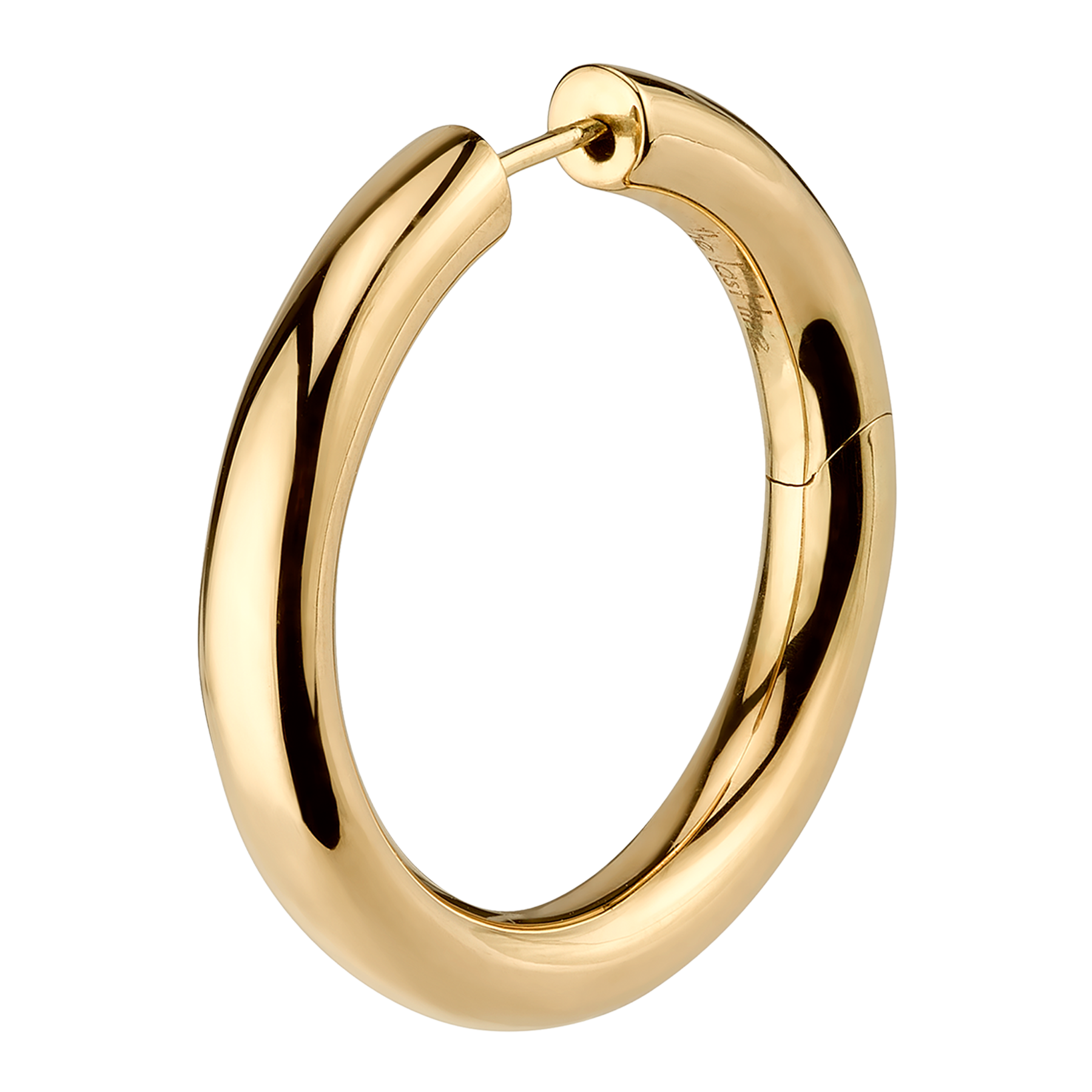 Gold 1 Wide Hoop Earring The Last Line Hoop Earrings Gold Chunky Earrings