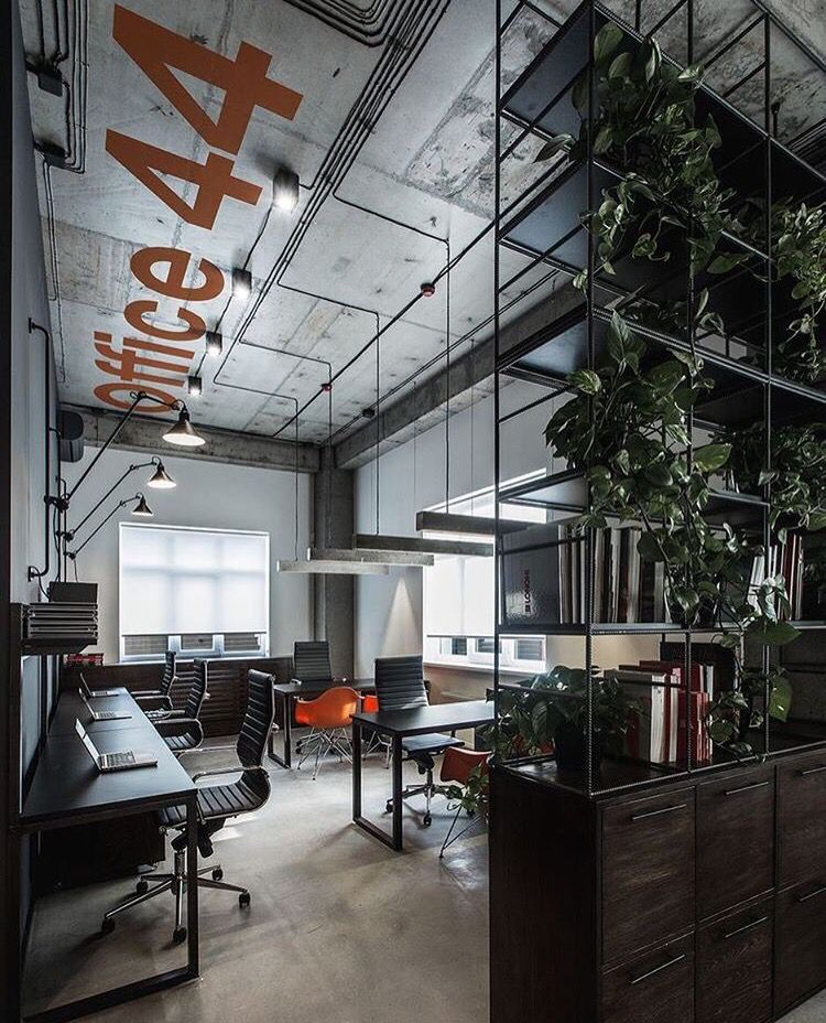 Business Office Decorating Ideas Is Definitely Important: Industrial Office Design, Office Interior Design, Modern Office Design